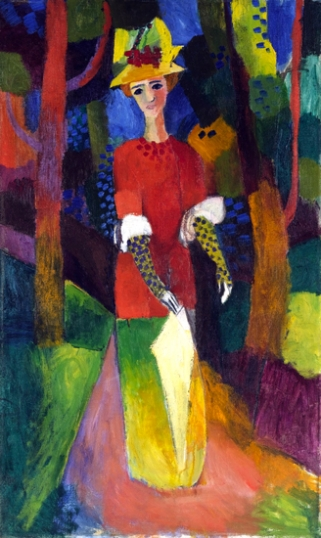 Lady In A Park 1914