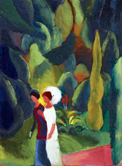 Women In A Park - With A White Parasol