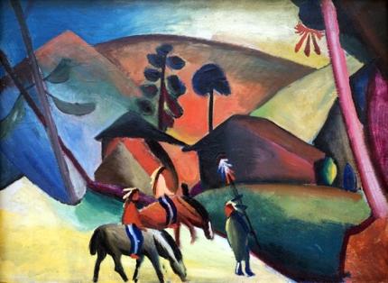 Indians On Horsebacks 1911