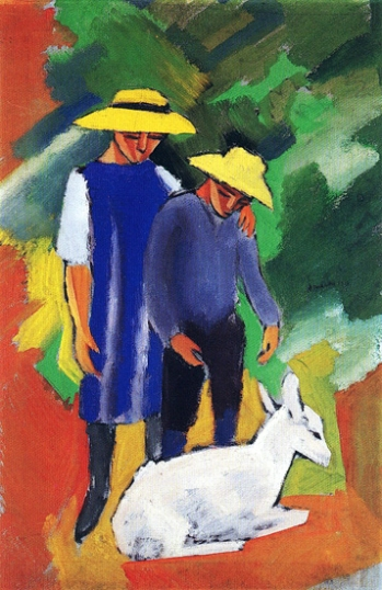 Children With Goat