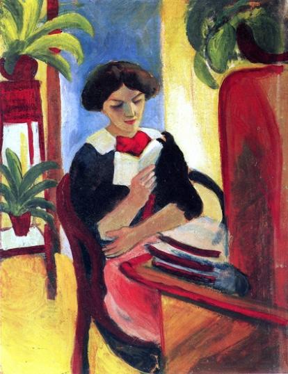 Elisabeth Am Schreibtisch