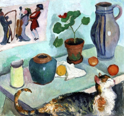 Still Life With A Cat 1910