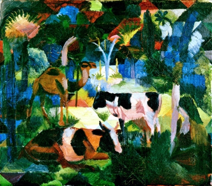 Landscape With Cows And Camel