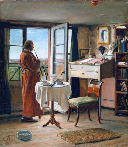 The Actor Kristian Mantzius In His Study