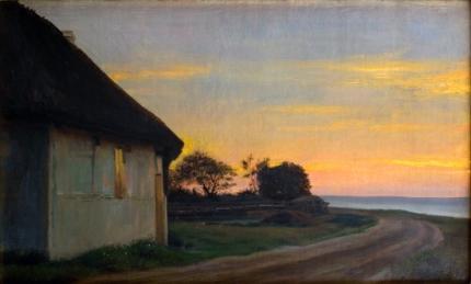 Evening Landscape With A House And Garden By The Sea Ellekilde