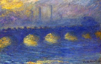Waterloo bridge, overcast weather 1904