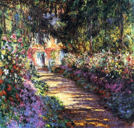 Pathway In Monets Garden at Giverny 1900