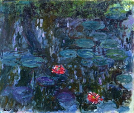 Water Lilies, Reflections of Weeping Willows, 1916-19