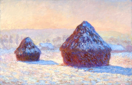 Grainstacks In the Morning, Snow Effect, 1891