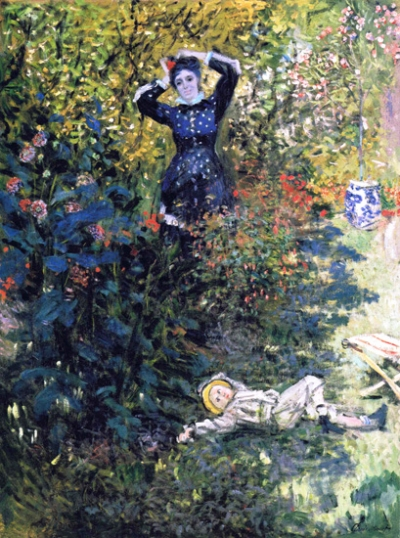 Camille and Jean Monet In the Garden at Argenteuil, 1873