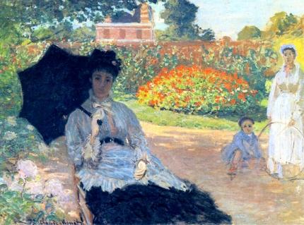 Camille Monet In the Garden, 1873