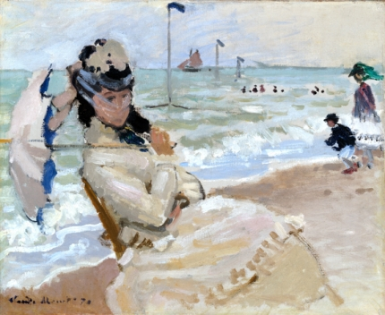 Camille On the Beach In Trouville 1870