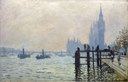 The Thames at Westminster, 1871