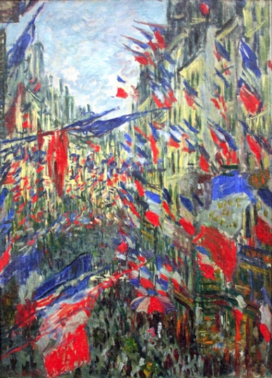 The Rue Montorgueil With Flags
