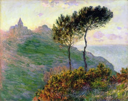 The Church at Varengeville, Against the Sunset, 1882