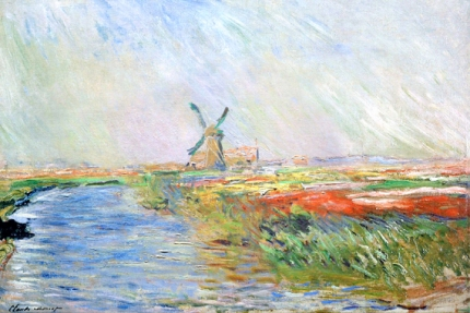 Field of Tulips In Holland, 1886