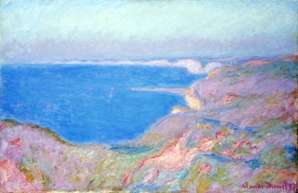 On the Cliffs near Dieppe, Sunset