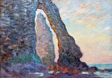 The Rock Needle Seen Through the Porte D'aval, 1886
