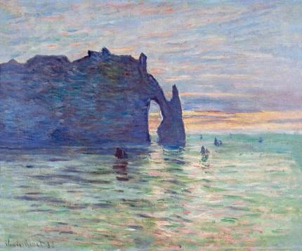 Etretat, Sunset, 1883