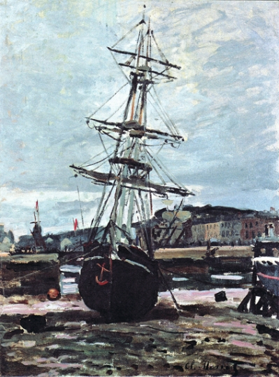 Gestrandetes Boot In Fecamp, 1868
