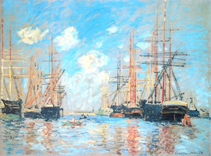 The Sea, Port In Amsterdam, 1874