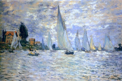 The Boats Regatta at Argenteuil, 1874