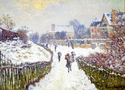 Boulevard St.Denis, Argenteuil, Snow Effect,1875