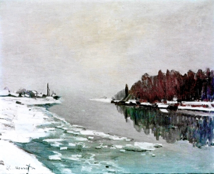 The Neve On the Bank of the Seine
