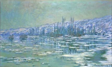 Ice Floes On Seine, 1880