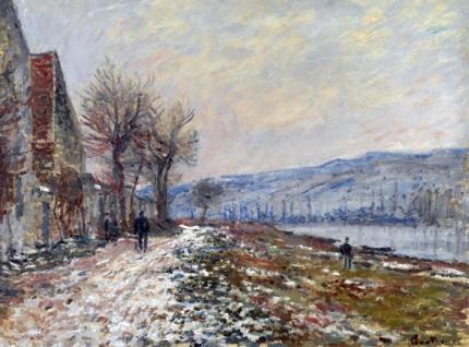 La Berge à Lavacourt, Neige