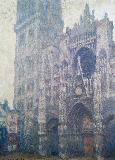Rouen Cathedral, West Portal, Grey Weather