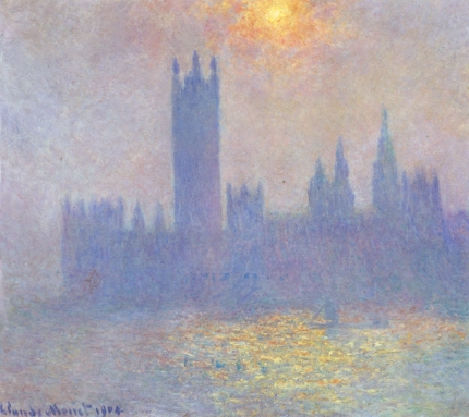 Houses of Parliament, Effect of Sunlight In the Fog, 1904