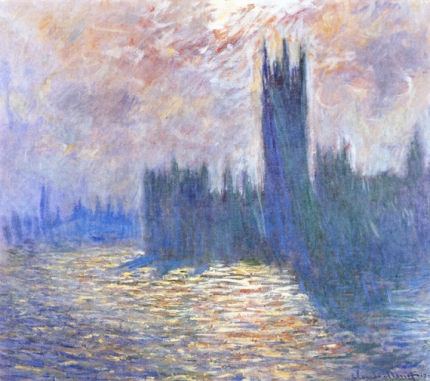 Houses of Parliament, Reflection of the Thames, 1900-01