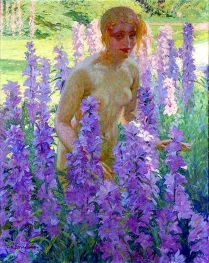 Nude In Flowers