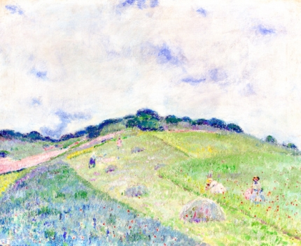 Hill At Giverny