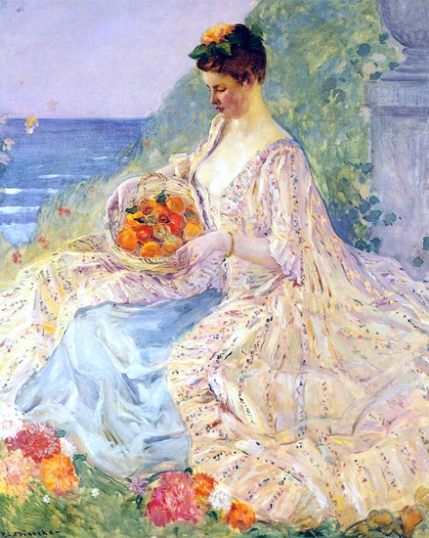 Woman With A Flower Basket