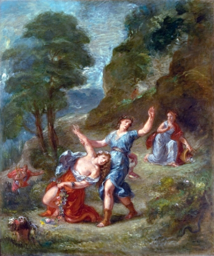 The Spring - Eurydice Bitten by a Serpent While Picking Flowers (Eurydice's Death)