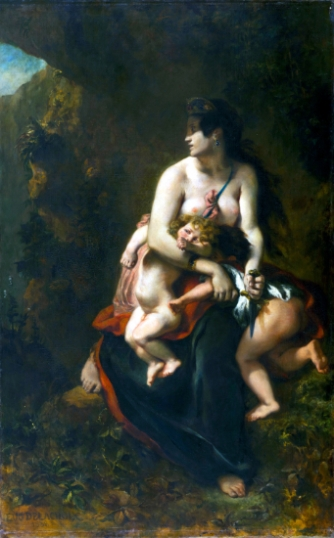 Medea About To Kill Her Children 1838-2