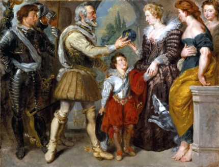 Henri Iv Conferring the Regency Upon Marie De' Medici