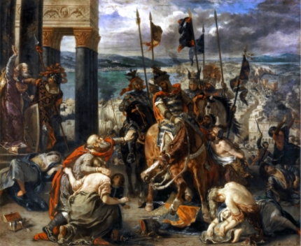 The Entry of the Crusaders Into Constantinople 1840