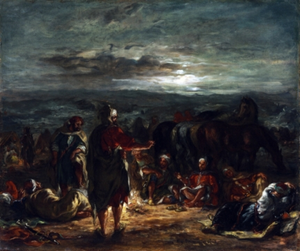 An Arab Camp at Night 1863