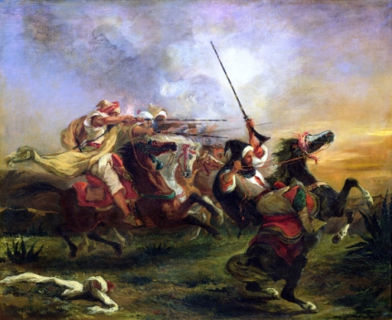 Moroccan Horsemen in Military Action