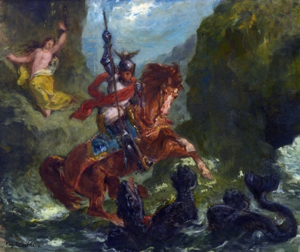 Roger Rescues Angelica, 1856