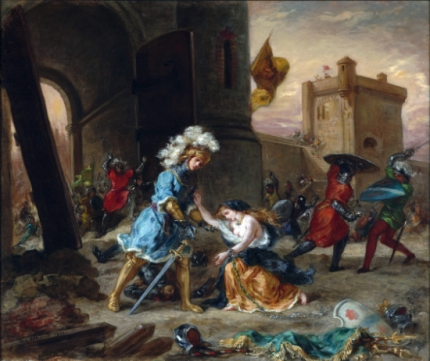 Scene From the Romance of Amadis De Gaule 1860