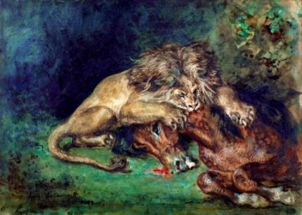Lion Devouring a Horse 1844