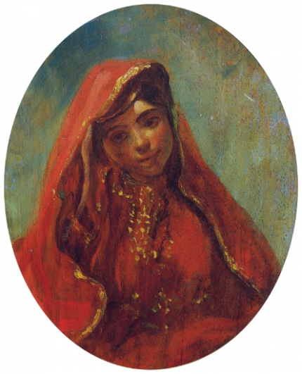 Half Figure of a Moroccan Woman