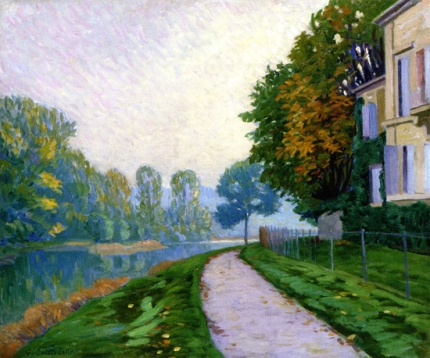 By the River, the Effect of Morning Fog 1875