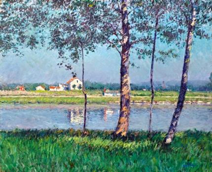 Rive De La Seine Au Petit-Gennevilliers 1888