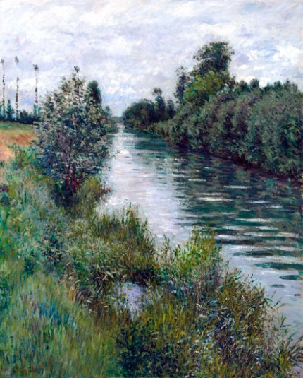 The Little Arm of the Seine at Argenteuil, Overcast 1893