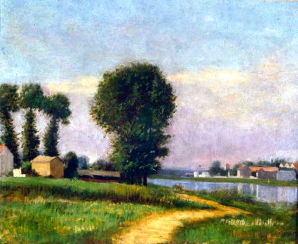The Bank of Petit-Gennevilliers and the Seine